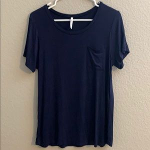 NWOT Active USA Size L  navy blue top